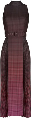 Mary Katrantzou Julia pleated checked midi-dress