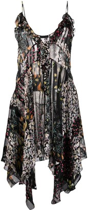 Etro Sheer Floral Print Dress