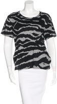 Burberry Tiger Print Short Sleeve T-Shirt