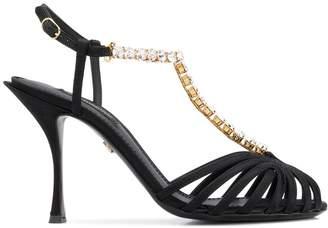 Dolce & Gabbana crystal embellished T-strap pumps