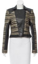 BCBGMAXAZRIA Vegan Leather-Accented Jacket