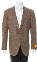 Hickey Freeman Two-Button Gingham Blazer w/ Tags