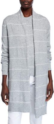 MICHAEL Michael Kors Tinsel Stripe Long Cardigan
