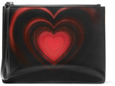 Christopher Kane Lenticular Pvc-Paneled Leather Clutch