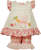 Bonnie Jean Sleeveless Bunny Dress and Capri Pants Set - Toddler Girls 2t-4t