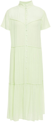 Rag & Bone Libby Gathered Gauze Midi Dress