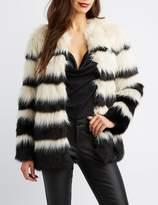 Charlotte Russe Faux Fur Oversize Jacket