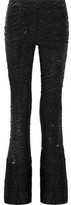 Michael Kors Sequined Stretch-tulle Flared Pants - Black