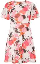 Dorothy Perkins Petite Red and Pink Floral Tea Dress