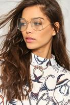 Nasty Gal Play Ball Round Glasses