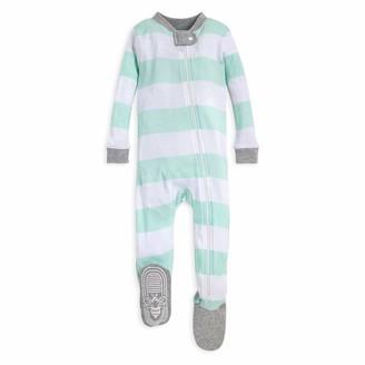 Burt's Bees Baby Baby Boys' Unisex Pajamas Zip-Front Non-Slip Footed Sleeper PJs Organic Cotton
