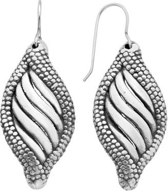 A&M Sterling Silver Sea Shell Dangle Earrings