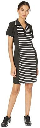 Tribal Short Sleeve Golf Polo Dress (Black) Women's Clothing