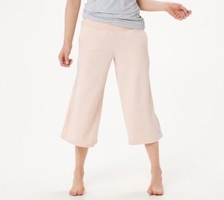 Cuddl Duds Slub Knit Cropped Wide Leg Pants