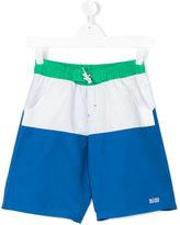 Boss Kids teen colour block swim shorts