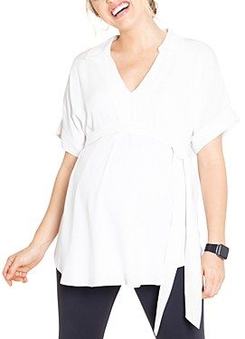 Ingrid & Isabel Tie-Waist Maternity Top