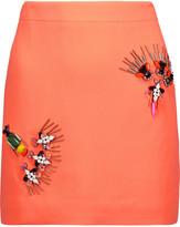 Stella McCartney Becca crystal-embellished crepe de chine mini skirt