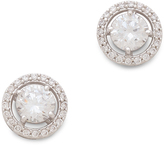 Kenneth Jay Lane Round Floating Stud Earrings