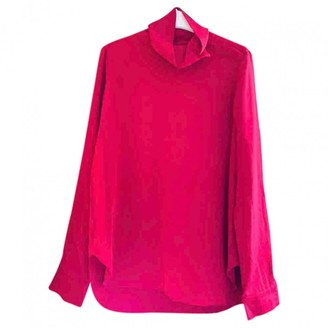 Cos Pink Silk Top for Women