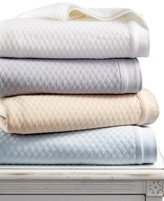 Martha Stewart Collection CLOSEOUT! Collection Quilted Triple Knit Full/Queen Blanket, Created for Macy's