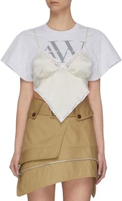 Alexander Wang T-shirt Camisole Hybrid Top