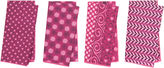 Found Object S/4 Asst. Pattern Play Napkins, Pink