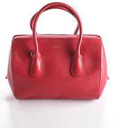 Nina Ricci Red Leather Gold Tone Smalle Rouge Youkali Satchel Handbag 90059608