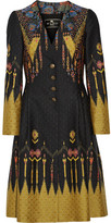 Etro Jacquard Coat - Black