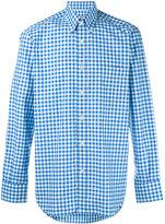 Canali gingham button down shirt - men - Cotton - M