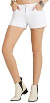 BCBGeneration Frayed Hem Shorts in Optic White