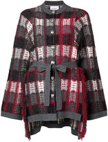 Barrie - checked cardigan - women - Cashmere - S