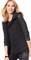 New York & Co. Hooded Knit Puffer Vest