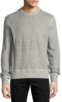 Rag & Bone Toweling Sweatshirt, Heather Gray