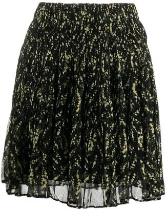 BA&SH Floral-Print Mini Skirt