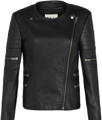 West 14th Greenwich Street Motor Jacket Black Leather