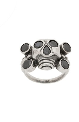 Kokon To Zai Rhinestone Embellished Skull Ring