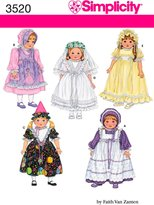Simplicity Sewing Pattern 3520 Doll Clothes, One