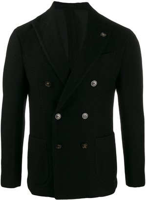 Lardini Double-Breasted Fitted Blazer