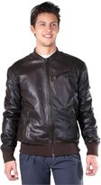 S.W.O.R.D. Man Brown Leather Bomber Jacket