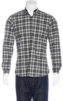 The Kooples Lambskin-Trimmed Plaid Shirt