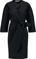 J.W.Anderson Cotton-blend mini wrap dress