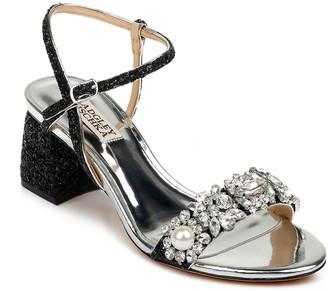 Badgley Mischka Danielle Glitter Crystal Ankle-Strap Sandals