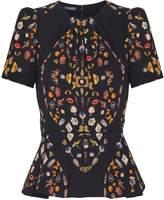 Alexander McQueen Printed Short Sleeve Top