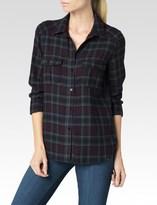 Paige Mya Shirt - Vineyard/Dark Slate Plaid