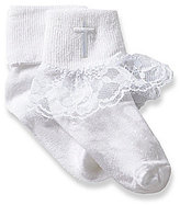 Starting Out 2-Pack Lace Trimmed Christening Socks