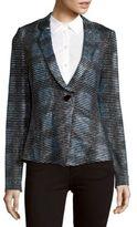 Giorgio Armani Striped Notch-Lapel Glitter Jacket