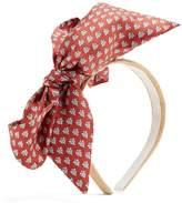 Benoit Missolin Eulali silk and raffia-straw headband