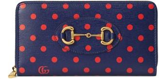 Gucci 1955 Horsebit zip around wallet