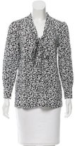 Kate Spade Bow-Accented Printed Blouse