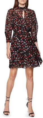 Reiss Peony & Poppy Print Dress